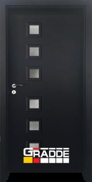 Интериорна HDF врата, модел Gradde Reichsburg, Орех Рибейра