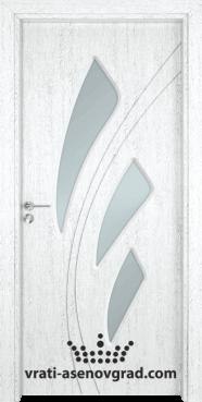 Стъклена интериорна врата Гама 202, цвят Бреза