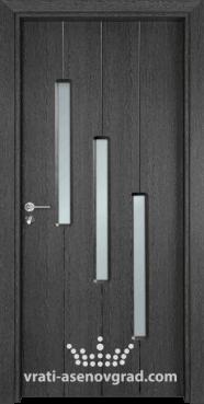 Стъклена интериорна врата Гама 206, цвят Сив Кестен