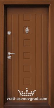 Блиндирана входна врата, модел Т 712, цвят Златен дъб
