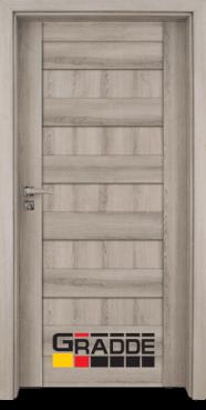 Интериорна HDF врата, модел Gradde Aaven Voll, Ясен Вералинга