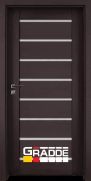 Интериорна HDF врата, модел Gradde Axel Glas, Орех Рибейра