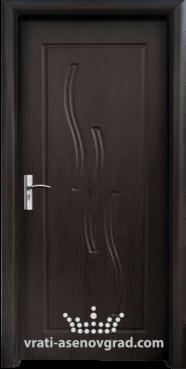 Интериорна врата Стандарт 014-P, цвят Венге