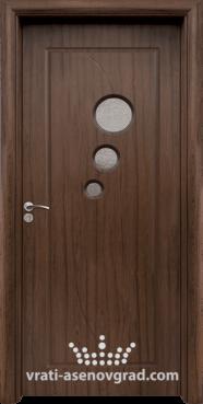 Интериорна врата Стандарт 017, цвят Орех