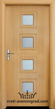Интериорна врата Стандарт 021, цвят Светъл дъб