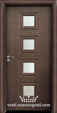 Интериорна врата Стандарт 021, цвят Орех