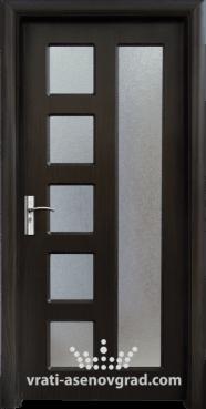 Интериорна врата Стандарт 048, цвят Венге