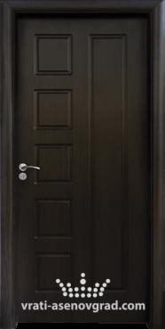 Интериорна врата Стандарт 048-P, цвят Венге