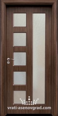 Интериорна врата Стандарт 048, цвят Орех