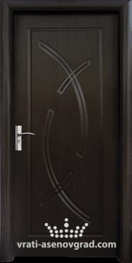 Интериорна врата Стандарт 056-P, цвят Венге
