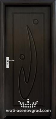 Интериорна врата Стандарт 070-P, цвят Венге