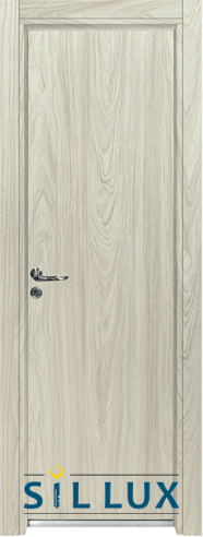Алуминиева врата за баня – Sil Lux, цвят Избелен дъб